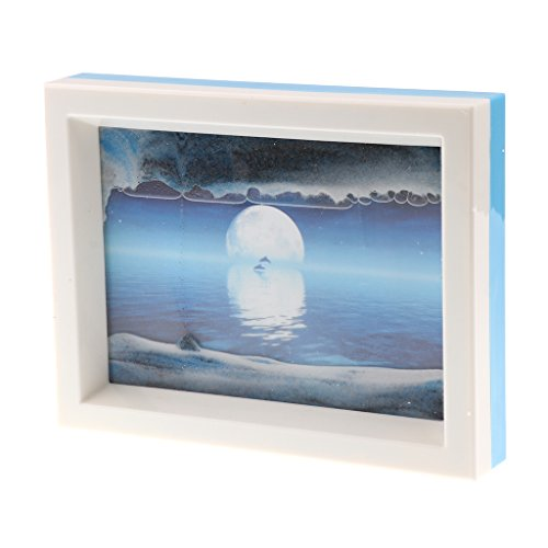 Dolity Dynamische Sandbild, Sand Bilderrahmen, Bewegend Sandbild Sandmalerei, Sand Handwerk, Schreibtisch Dekoration - # 4