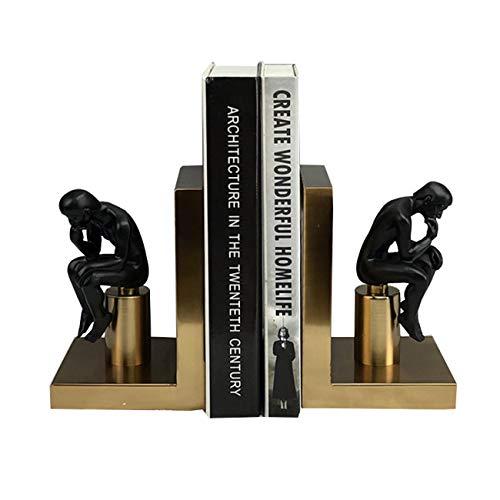 ZhenLang Estatua Creativa del sostenedor del Libro de los Extremos del Libro, estantería de sujetalibros de Estilo Europeo para el hogar, la Oficina, la Escuela, la decoración,...