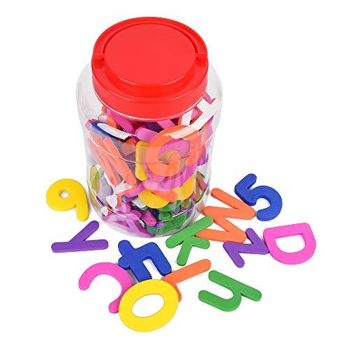 ewtshop Moosgummi Buchstaben und Zahlen, 114 Selbstklebende Groß- und Kleinbuchstaben aus Schaumstoff, farblich gemischt