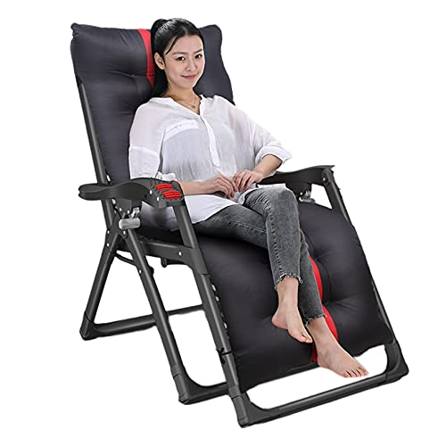 YX-ZD Zero Gravity Chair Patio Recliner Sun Lounger, Garden Ourdoor Reclining Deck Chair Office Recliner, with A Cushion, for Office Pool Beach, 250Kg Load Capacity