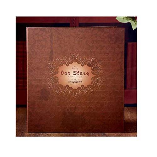 Los Familiares Album de Fotos del álbum de estantería Tipo de inserción del Conjunto de Gran Capacidad de 6 Pulgadas de 800 Hojas, Viajes de Familia Amor Regalos de Año Brown