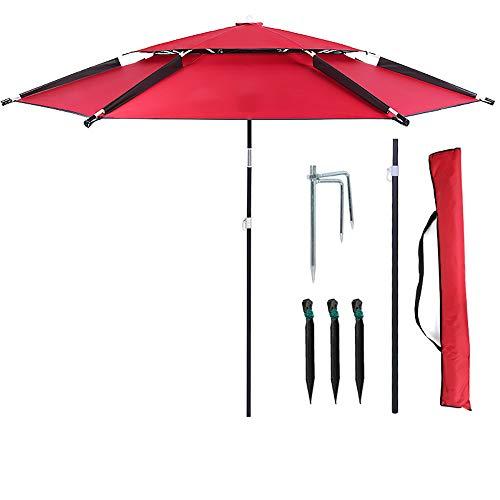 Parasol WYZQQ visparaplu universele zonbescherming regendichte visparaplu paraplu outdoor vissen viszak
