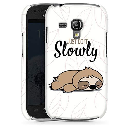 DeinDesign Premium Case kompatibel mit Samsung Galaxy S3 Mini Smartphone Handyhülle Hülle glänzend Tiere Faultier Lazy Sunday