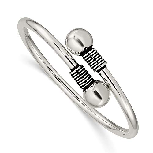 925 Sterling Silver Slip On Wrap Childs Bangle Bracelet Cuff Expandable Stackable Fine Jewelry For Women Gifts For Her