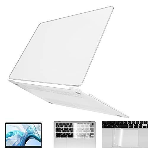 【4点セット】 MacBook Air 13 ケース セット内容: マックブックエアー 13インチ ハードケース+キーボードカバー+ブルーライトカットフィルム+トラックパッドフィルム