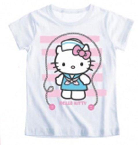 Hello kitty - Tee shirt manches courtes enfant fille blanc 8ans