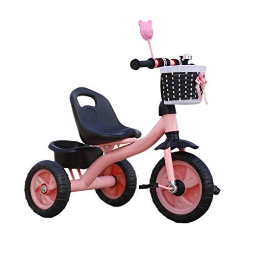 Triciclo Passeggino Triciclo trike triciclo triciclo, triciclo multi-funzione per bambini con cestino di stoccaggio, 2-6 anni Bambino Triciclo per esterni Rotella di schiuma triciclo, 2 colori, 70x55x