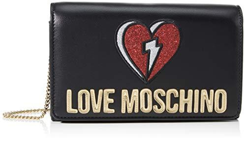 Love Moschino JC4268PP0BKJ0, Borsa A Spalla Donna, Nero, Normale