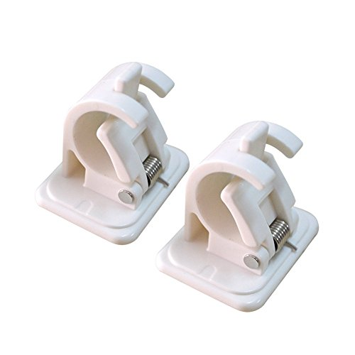 ROOS A Pair of Bathroom Wall Round Rod Hook 3M Stick Hook
