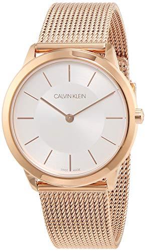 Calvin Klein Damen Analog Quarz Uhr mit Edelstahl Armband K3M22626