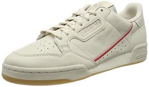 adidas Continental 80, Zapatillas de Gimnasia Hombre, Marrón (Clear Brown/Scarlet/Ecru Tint S18 Clear Brown/Scarlet/Ecru Tint S18), 41 1/3 EU