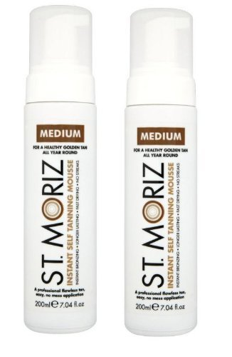 St. Moriz Instant Self Tanning Mousse Medium 200Ml - Pack of 2 by St Moriz