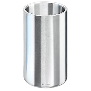 Isosteel VA-9568 Wine Cooler- Ice Bucket Double Wall 18/8 Stainless Steel with Matt Brushed Surface - BPA free