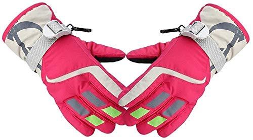 YDL Niños Snowmobile Winter Warm Ski Gloves Sports Impermeable Impermeable Snow Mitten Ski Ski Ski Skiing Guantes (Color : Pink L)