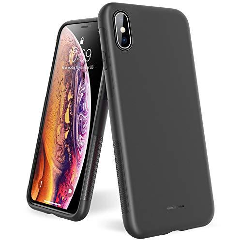 UNBREAKcable iPhone X/XS Hülle - Weiche, mattierte TPU Ultra-dünne Stylische iPhone X/XS Handyhülle für 5,8 Zoll iPhone X/XS  Fallschutz, rutschfest] - Matt Schwarz