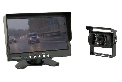 """VSG 7"""" Allround-Rückfahrsystem/Distanzlinien/Bildspiegelung / 12-24 Volt / 120° & IP67 / Ausschaltverzögerung/inkl. 20m Kabel / 2 Videoeingänge/Nachtsicht/Select-Serie"""