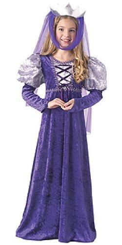 Disfraz de Reina medieval para niños, infantil 5-7 años (Rubie's 67195-M)