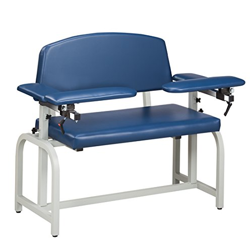 Phlebotomy Equipment - Royal Blue Lab X Series, Extra-Wide, Blood Drawing Chair with Padded Arms - CL-66000