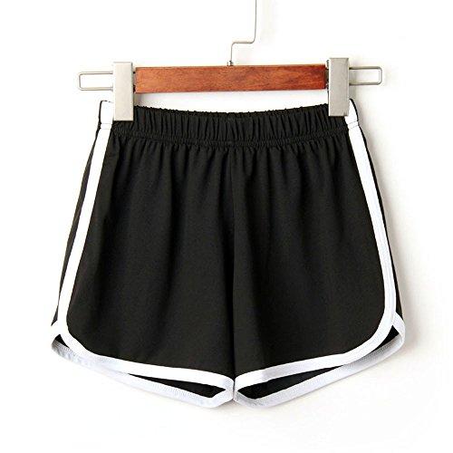 Jogginghose Damen Yoga Shorts Sommer Kurze Hose DREI Hosen High Waist Sporthose Leggings Damen Kurz Laufshorts Lässige Fitnesshose Freizeitshorts