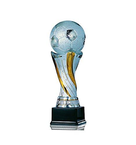 S.B.J - Sportland Edler Fußballpokal aus Keramik Größe 28 cm