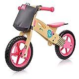 Bicicleta sin Pedales para Niños años hasta 30 kg Madera Mini Bici Bebés Andadores Equilibrio con Sillín Regulable (niños, Joy Ride Pink)