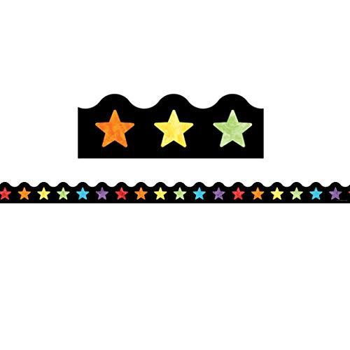 Carson Dellosa Celebrate Learning Watercolor Stars Scalloped Borders (108300)