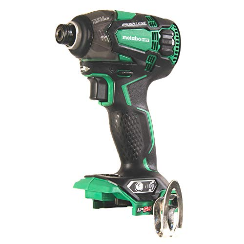 Metabo HPT WH18DBDL2Q4 18V Cordless Impact Driver, Triple Hammer Technology, Powerful 1, 832 In/Lbs Torque, Variable Speed Trigger, IP56 Compliant, LED Light, Tool Only