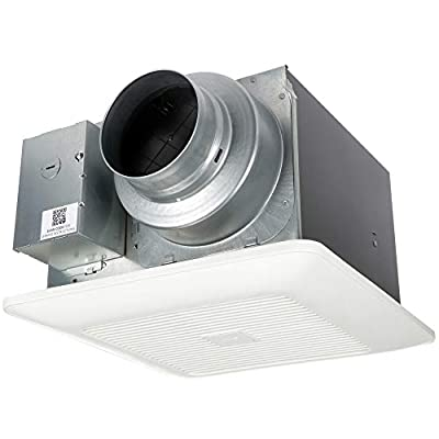 Panasonic - WhisperGreen Select Ventilation Fan - Customizable Bathroom Fan, Pick-A-Flow Speed Selector 50-80-110 CFM, Extremely Quiet, Long Lasting, Easy to Install, Code Compliant