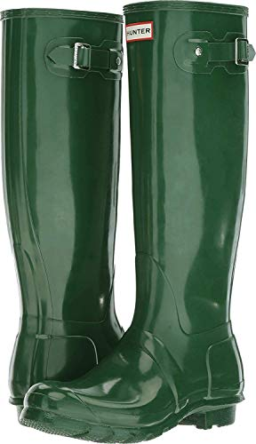 HUNTER Women's Original Tall Gloss Rain Shoe, Green