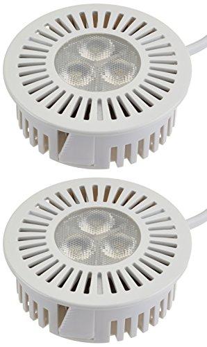 OSRAM LED Einbaustrahler TRESOL / Unterputz LED Einbauleuchte - anschlussfertig / 4,5W, warmweiß - 3200K, weiß - 2er Pack