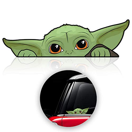 Baby Yoda Decals Stickers for Car, Window, Laptop, Luggage, Skateboard, Bike, Mandalorian Stickers, Decal Window Accessories (3 Pack)