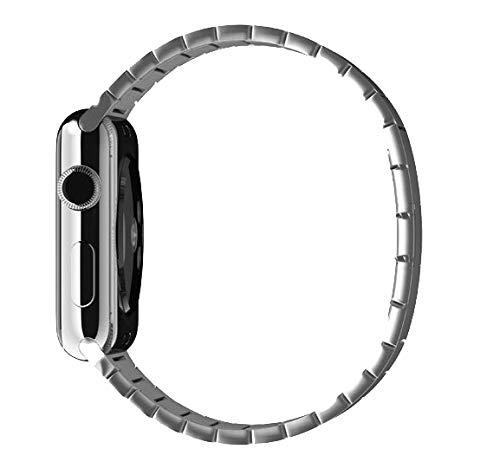HONGHUA Pulsera De Eslabones para Apple Watch Band Series 6 Se 5 4 3 2 1 Correa De Acero Inoxidable para Iwatch con Hebilla De Mariposa 40 / 44Mm
