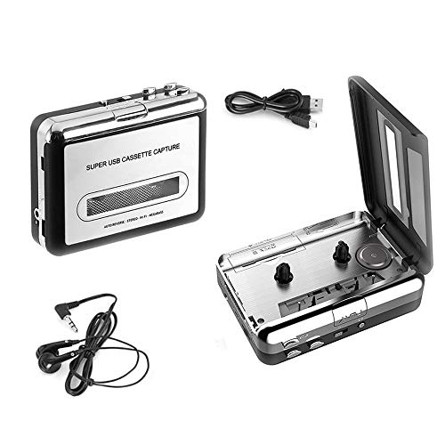 Cassette Player with USB Cable a...