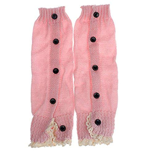 Clearance Sale Baby Toddler Girls Kids Crochet Leg Warmer Lace Button Knit Boot Cuffs Toppers Stockings Socks (D)