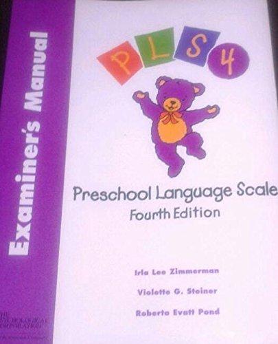 Introducing Preschool Language Scale Examiners Manual English