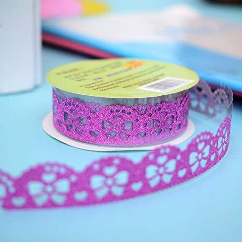 1 unid Kawaii Cute Silver Golden Glitter Washi Tape Scrapbooking Fiesta de...