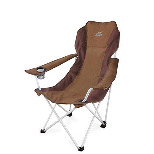 HM&DX Chaises De Camping Pliantes Extérieures Rembourré Confortable Portable Lumière Plage Chaise De Plage Pliante Avec Porte-gobelet Badminton Sac