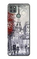 JP1295M9P パリのエッフェル絵画 Eiffel Painting of Paris Motorola Moto G9 Power ケース