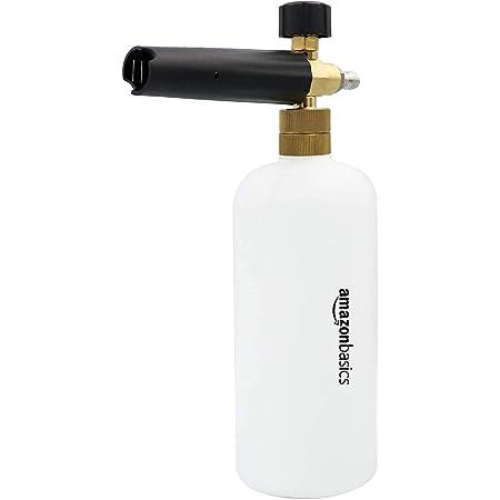 """Amazon Basics - Pulverizador de espuma con conector rápido de 1/4 para pistola de lavado a presión, compatible solo con conector rápido de 1/4, 0.22 galones """""""