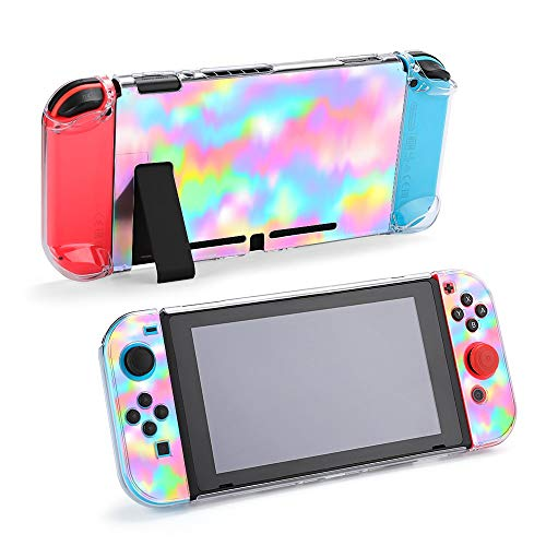 Case for Nintendo Switch Colorful Crayon Gradient Background Protective Accessories Cover Case for Nintendo Switch Game Shell with Shock Absorption and Anti-Scratch