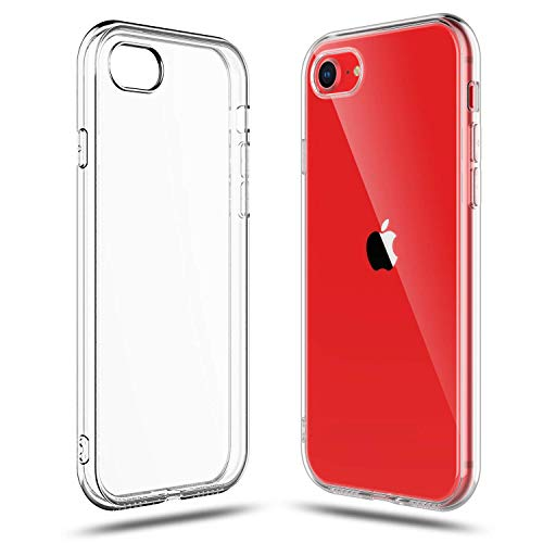 Shamo s Crystal Clear Shock Absorption TPU Rubber Gel Case (Clear) Compatible with iPhone SE 2020 (2nd Generation) iPhone 8 and iPhone 7