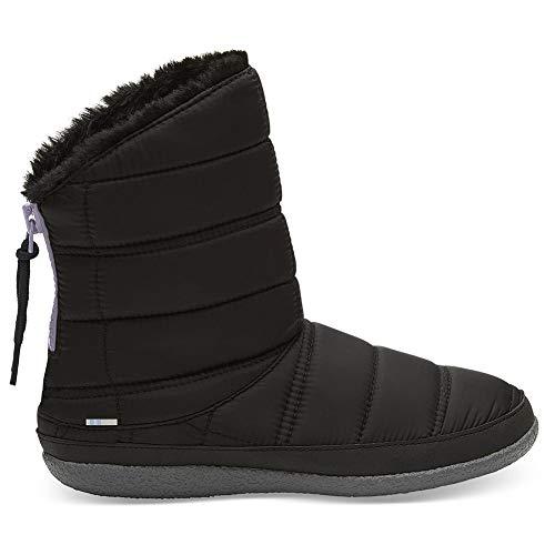 TOMS Inez Booties Black Quilted 10012470 Women's Size 10