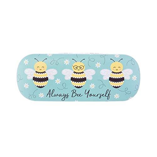 Sass & Belle Queen Bee Yourself Brillenetui Gr. One size, Blau/Gelb/Schwarz