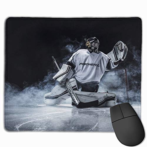 Hockey Goalie Premium Rectangle Mouse Pad for Computers, Laptop, Office & Home 11.8 X 9.8 Inch