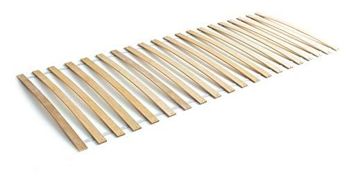 Ticaa Lattenrost Rollrost mit 20 Federleisten Birke 90 x 200 cm