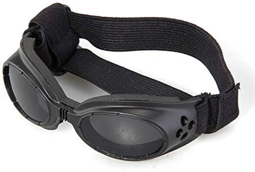 Ducomi Vincent - Occhiali da Sole per Cani Pieghevoli con Elastico Regolabile - Proteggono il Vostro Amico a Quattro Zampe da Sole Vento e Polvere - Regali per Cani (18 x 5,2 cm) (Black Matte)