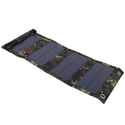 ROMACK Cargador Solar, Panel Solar Ligero, fácil de Llevar, Plegable, 10 W, 5,5 V, para Acampar, emergencias, para Actividades al Aire Libre