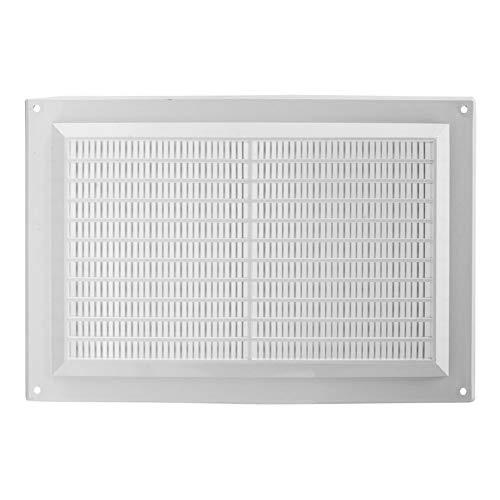 250x170mm Weiß Lüftungsgitter Insektenschutz Gitter Lüftung aus ABS Kunststoff 25x17 cm