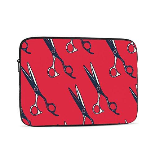 Macbook Air 11 Estuche Dibujos Animados Retro Peluquería Tijeras Macbook Pro Protector de Pantalla Multicolor