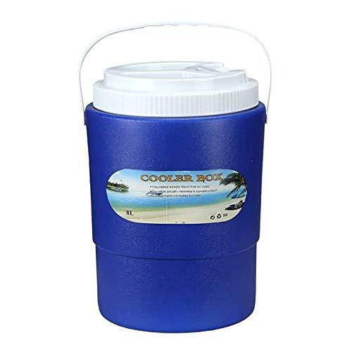 YANGYUAN Cubo de hielo al aire libre - 8 litros PU Ronda Incubadora Congelador paquete de la caja del cubo de hielo de almacenamiento en frío al aire fresco de la caja del coche de la categoría alimen
